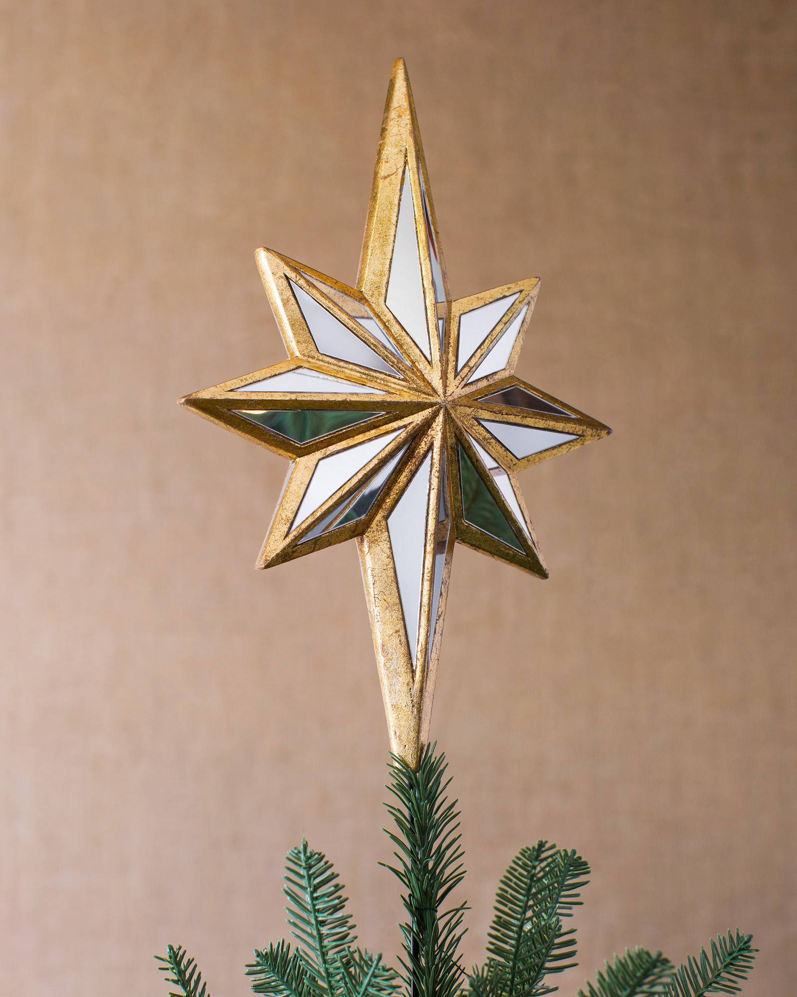 DOUBLE-SIDED MIRRORED STAR TREE TOPPER