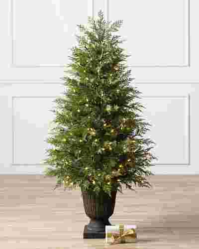 Cone Cedar Topiary by Balsam Hill