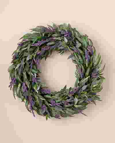 Lilac and Eucalyptus Wreath by Balsam Hill SSC