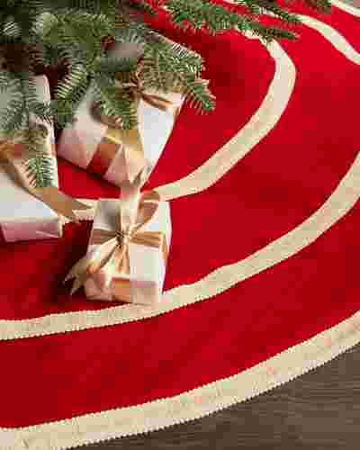 60in Peppermint Tree Skirt by Balsam Hill SSC