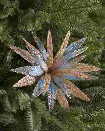 Arctic Blue Champagne Glitter Christmas Picks, Set of 12 by Balsam Hill