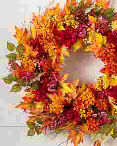 Outdoor Harvest Bloom Wreath by Balsam Hill