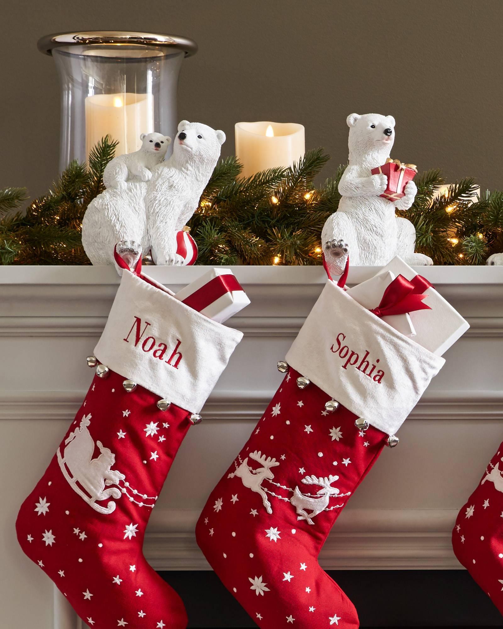 polar bear family stocking holder alt