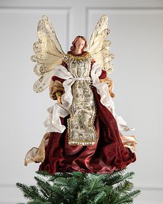 Christmas Angel Tree Topper.Christmas Tree Toppers Angels Balsam Hill