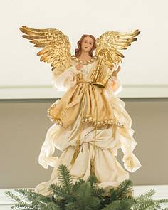 gold angel tree topper main - Christmas Angels For Sale
