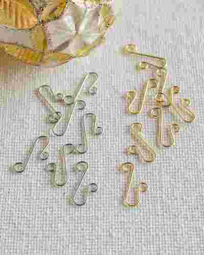 Gold Ornament Hooks - Set of 100 Main