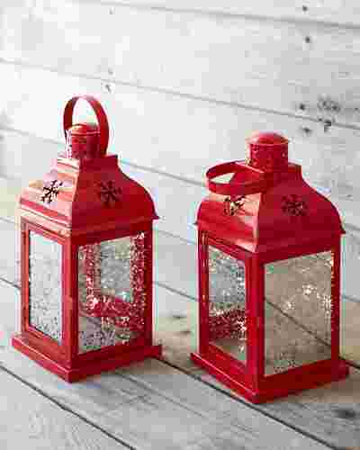 Outdoor LED Holiday Lanterns Set of 2 by Balsam Hill