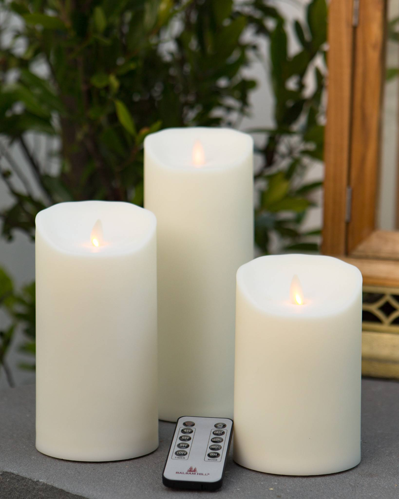 Outdoor Miracle Flame Led Pillar Candle