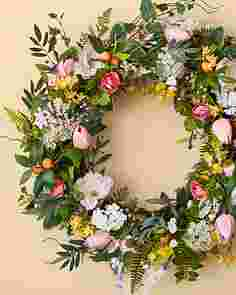 Spring in Bloom Arrangement and Wreath by Balsam Hill SSCR 10