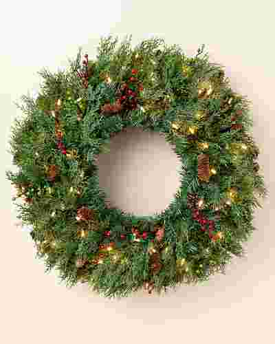 Beacon Hill Cypress Wreath by Balsam Hill
