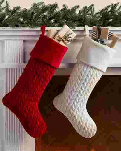 Plush Braid Stocking by Balsam Hill Lifestyle 10