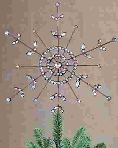 Antiqued Snowflake Christmas Tree Topper by Balsam Hill SSC 10