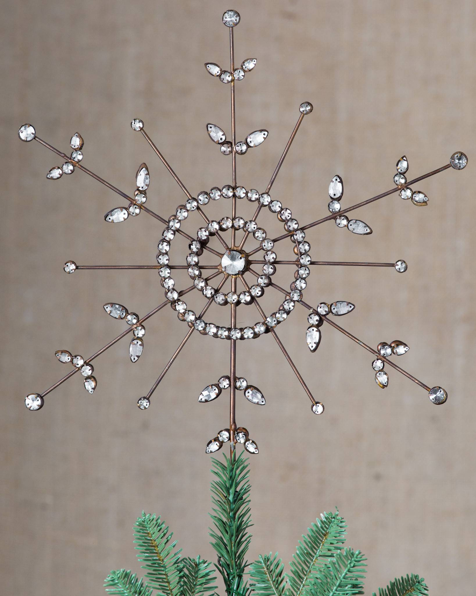 Antiqued Snowflake Tree Topper By Balsam Hill