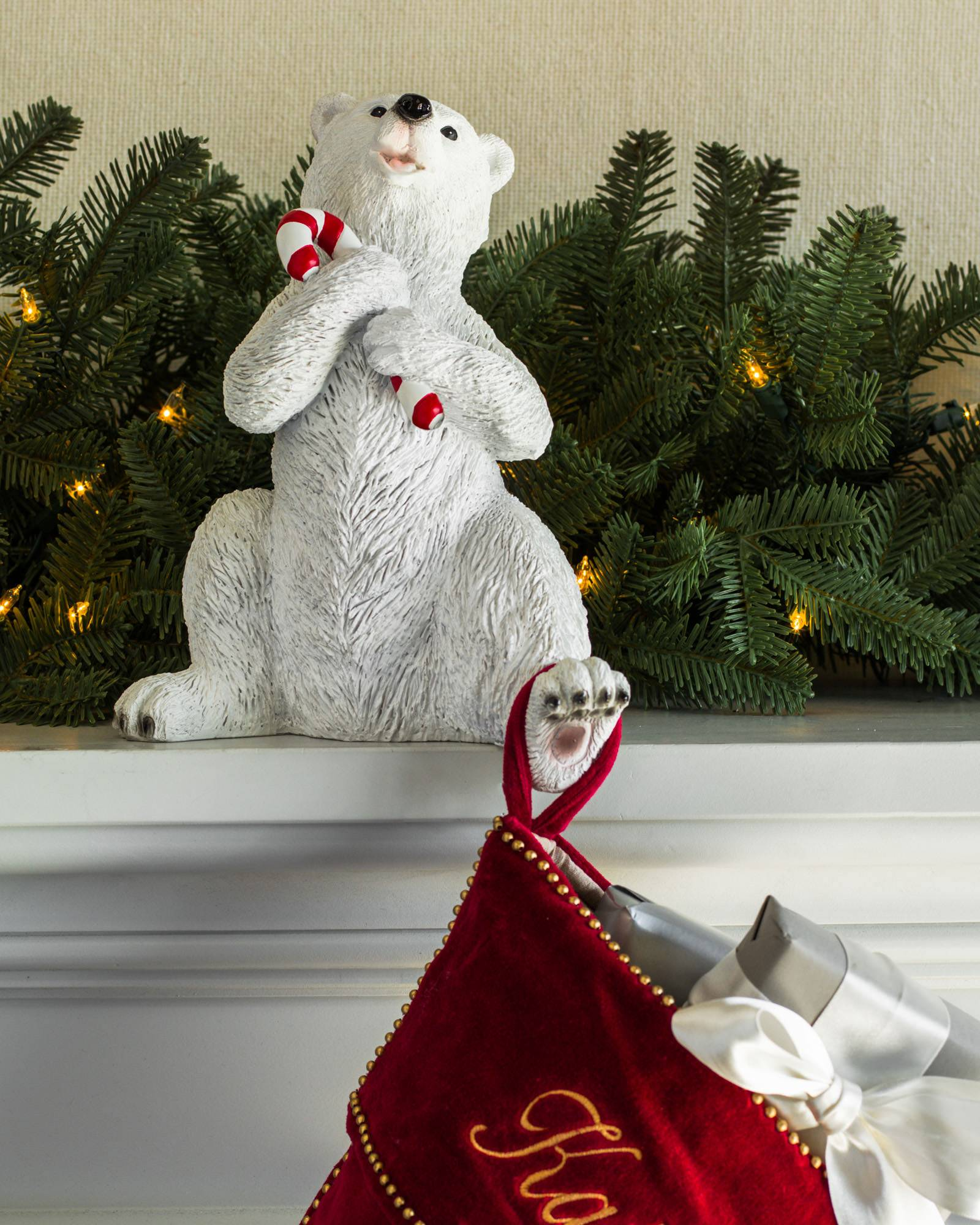 polar bear family stocking holder alt polar bear family stocking holder alt - Polar Bear Christmas Decorations