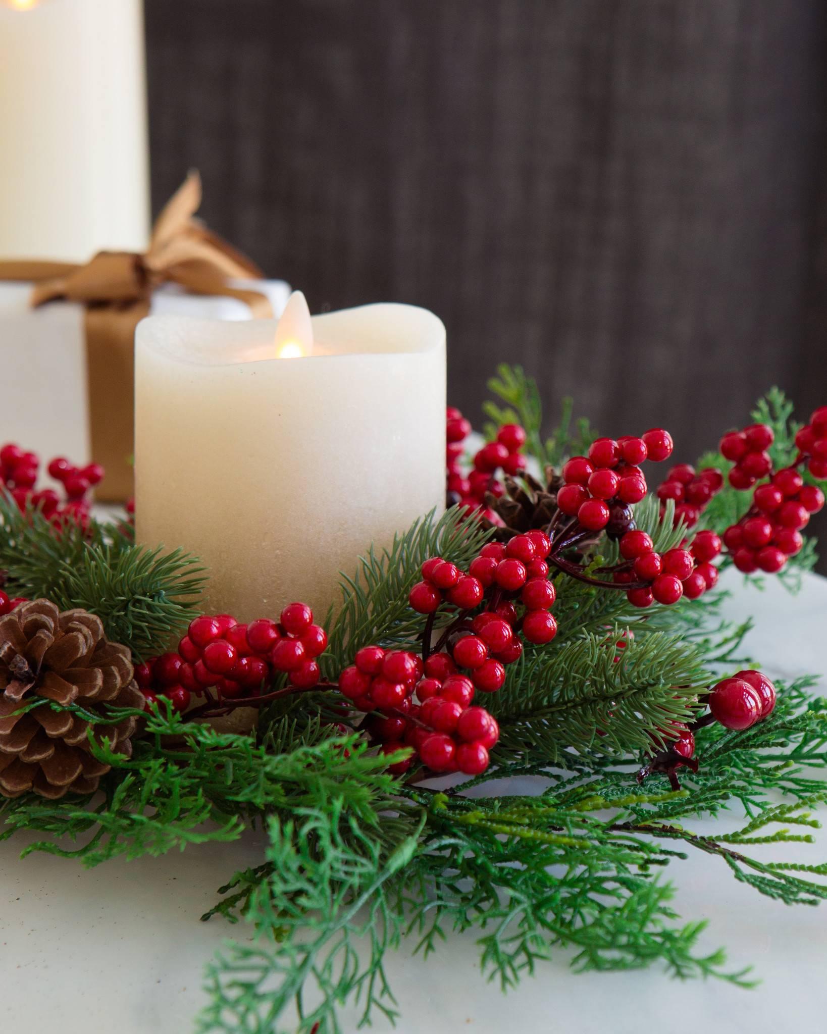 Christmas Candle Rings.Christmas Candle Rings Set Of 3 Balsam Hill Uk