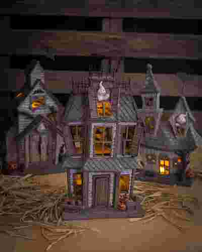 Glowing Ghost Town House by Balsam Hill