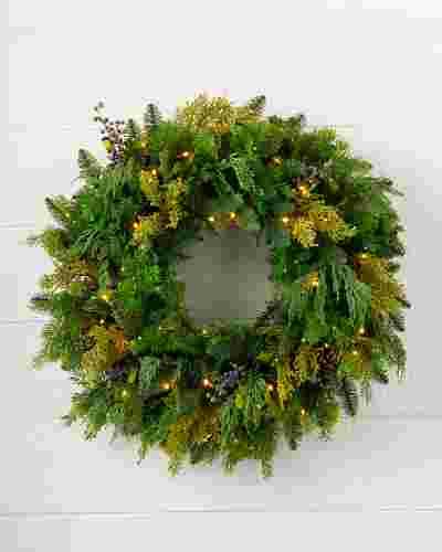 Outdoor Juniper Pine Wreath by Balsam Hill