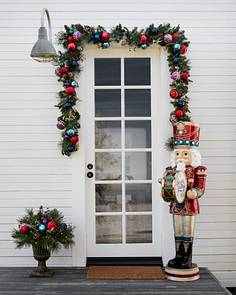 outdoor kaleidoscope foliage by balsam hill - How To Decorate Outdoor Stairs For Christmas