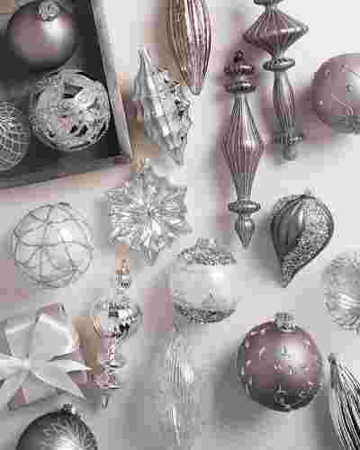 Crystal Palace Glass Ornament Set, 35 Pieces Main