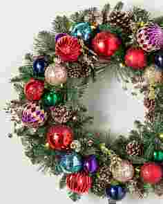 Outdoor Kaleidoscope Wreath by Balsam Hill SSCR 10
