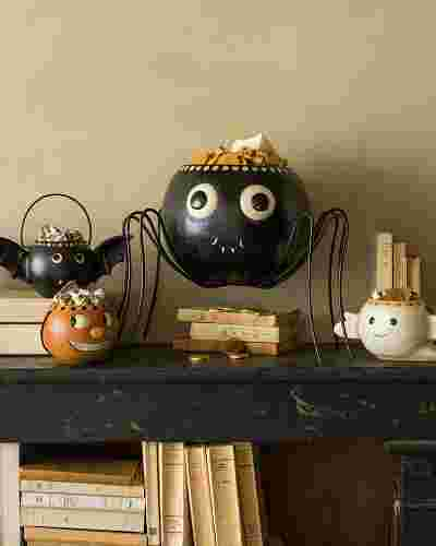 Vintage Halloween Candy Bowls Main