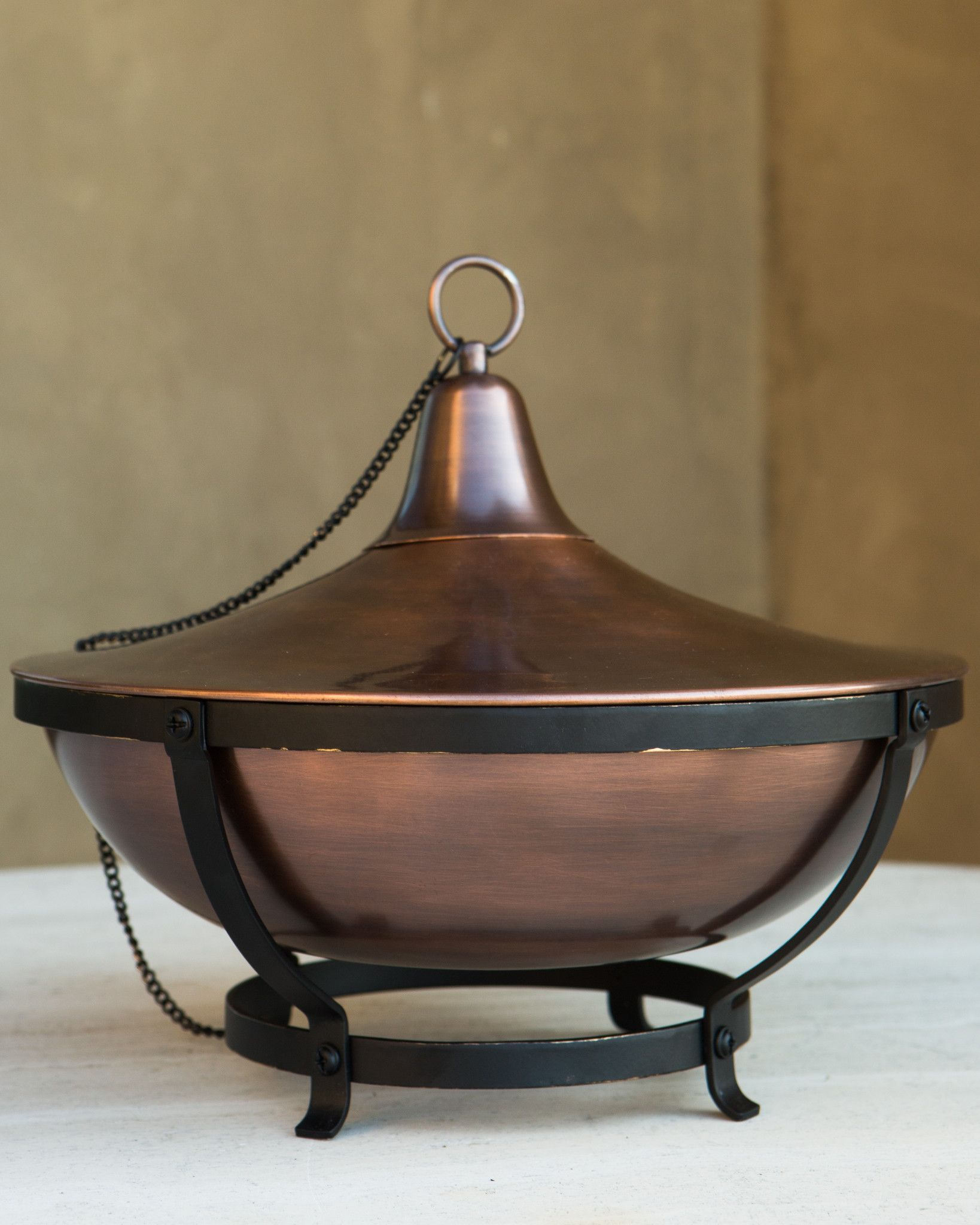 ... Outdoor Copper Oil Lamp By Balsam Hill ...