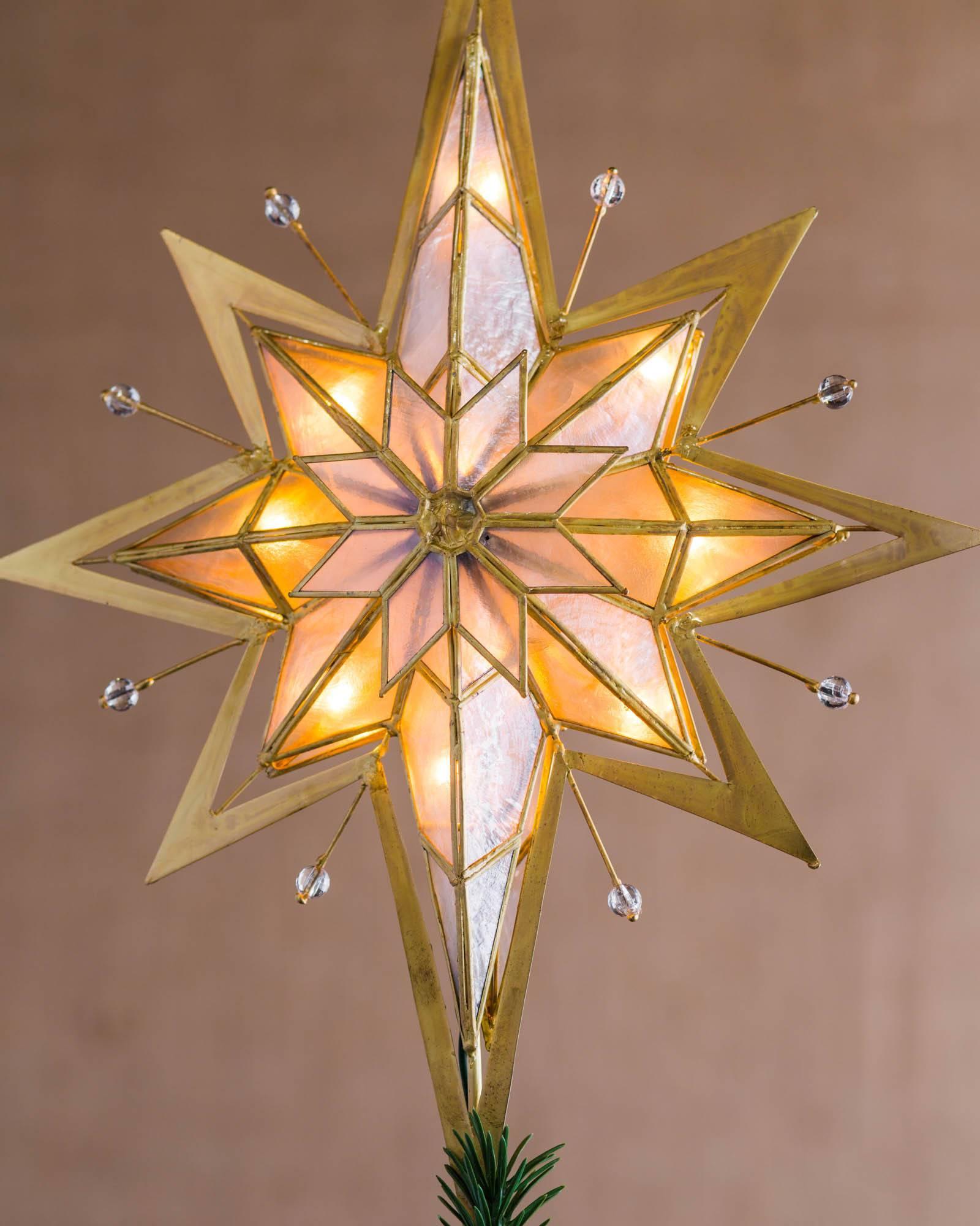 pre lit bethlehem star tree topper alt