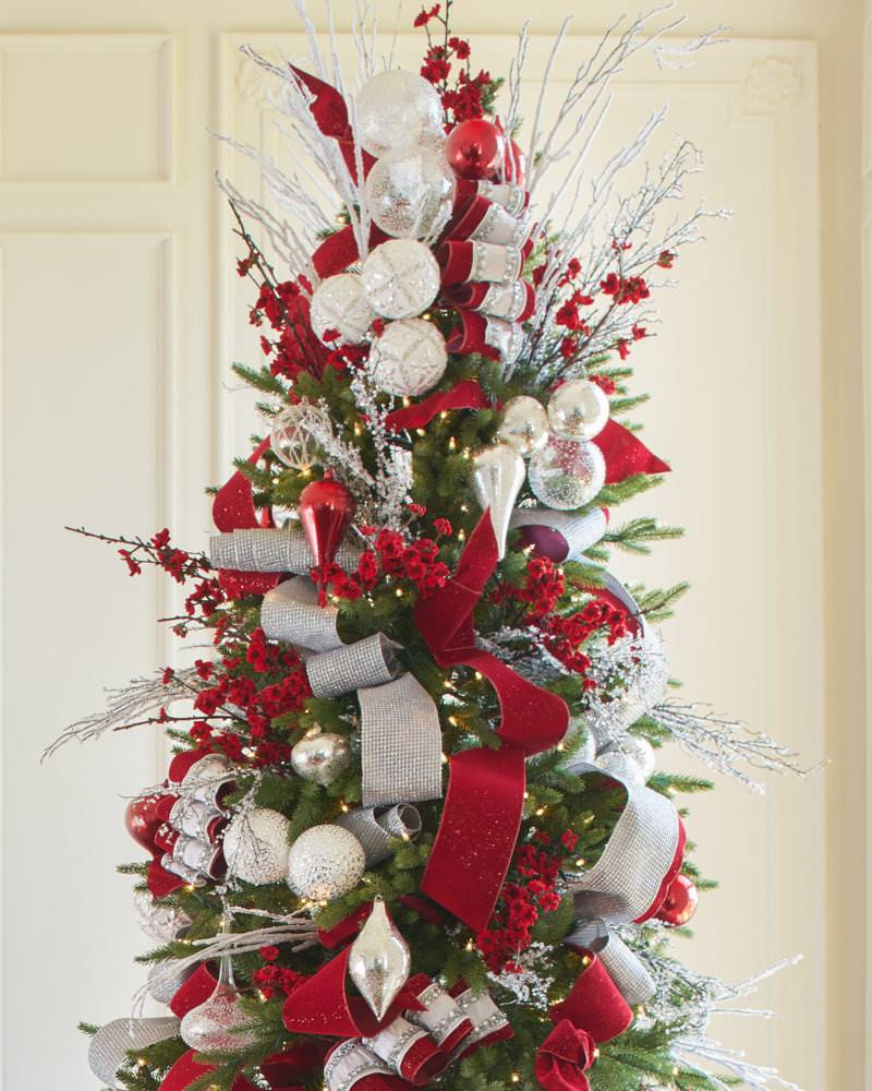 Tall Skinny Christmas Tree Decorating Ideas.Silverado Slim Artificial Christmas Tree Balsam Hill