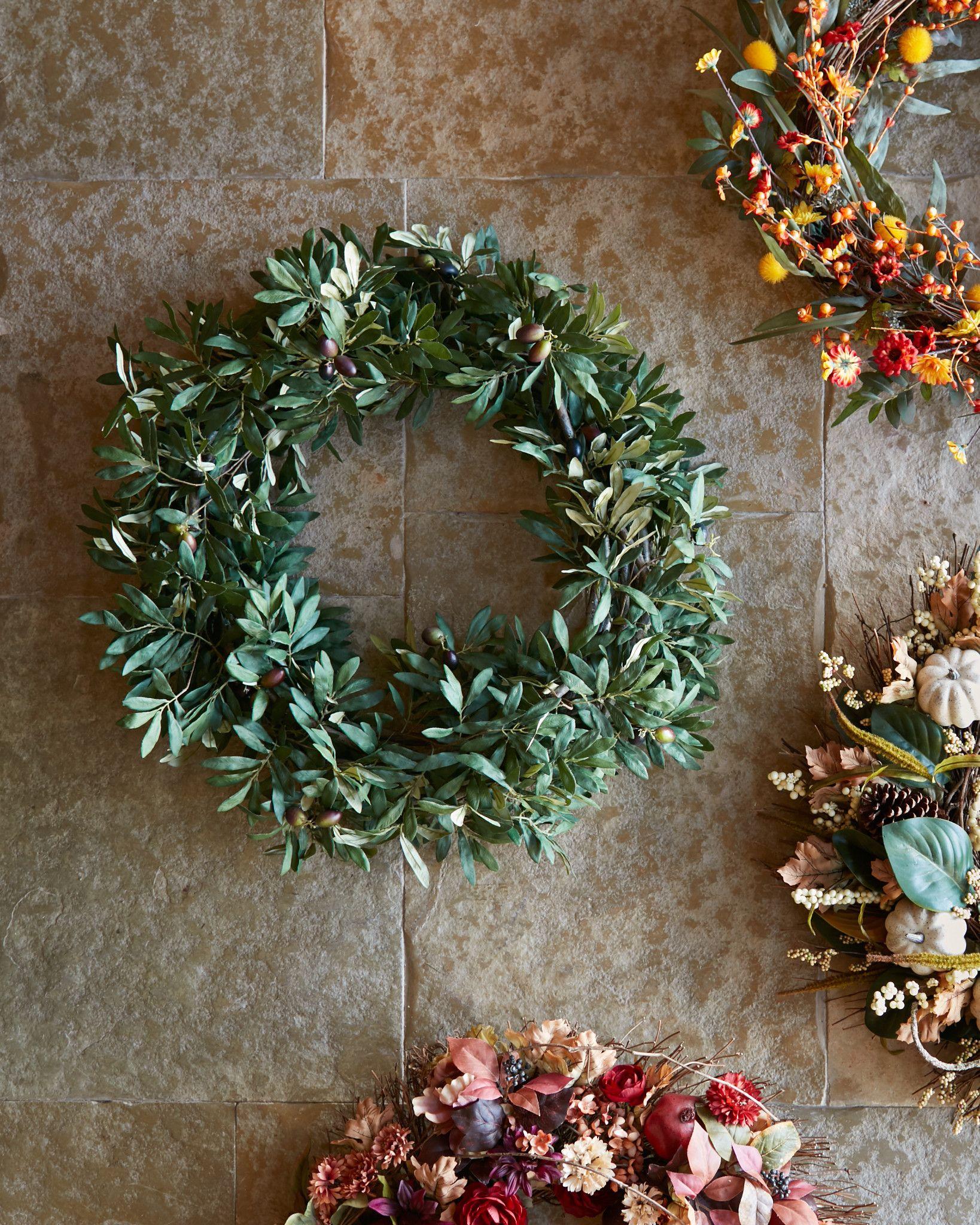 Wonderful Olive Branch Wreath, Garland & Swag | Balsam Hill JO28