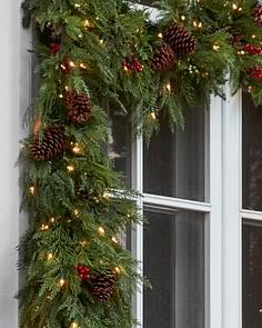 Artificial Christmas Wreaths Garlands Foliage Balsam Hill