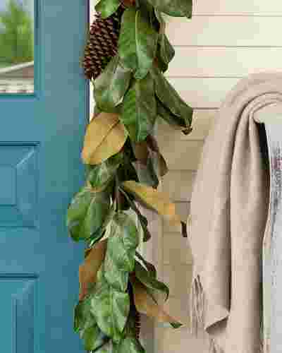 Magnolia Leaf Garland by Balsam Hill SSC 20