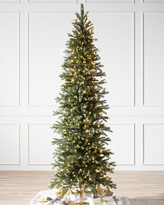 Tall Slim Christmas Tree.Narrow Artificial Christmas Trees Balsam Hill
