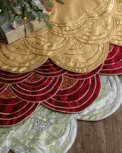 Elizabeth Beaded Tree Skirt Main