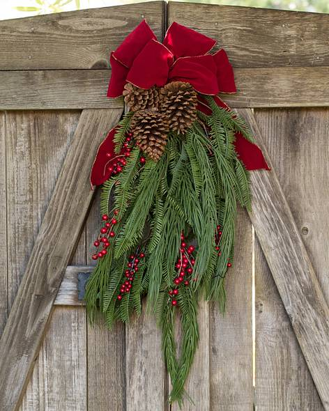 decorative christmas swags balsam hill - Christmas Swag Decorations