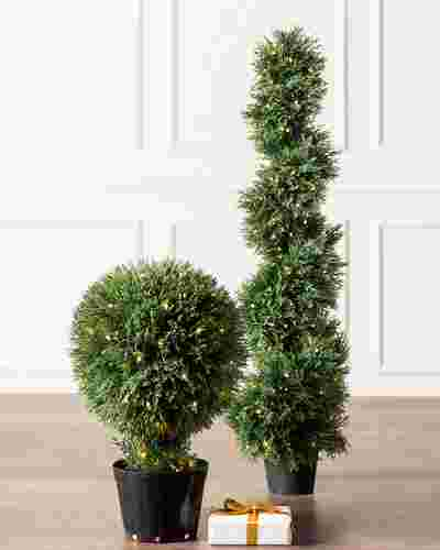 Outdoor LED Cypress Topiary by Balsam Hill