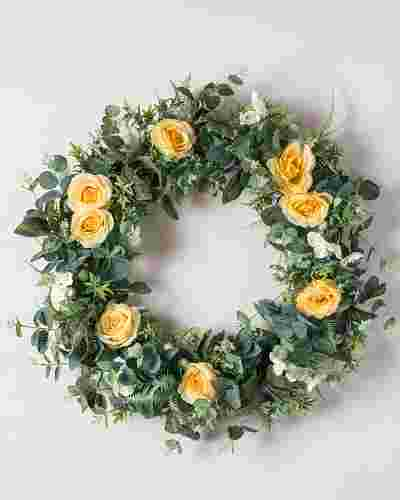 Diana Rose Flower Wreath by Balsam Hill SSC 10