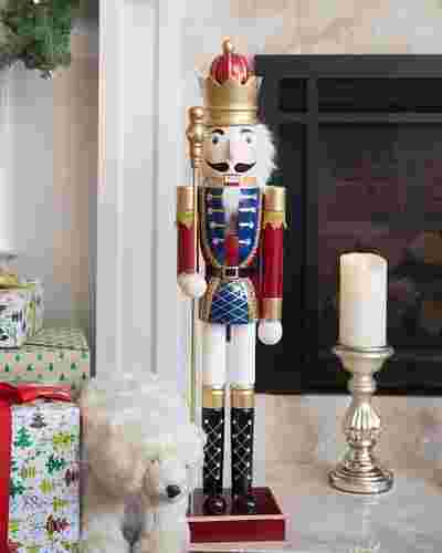 36in Classic Nutcracker Soldier Figure by Balsam Hill