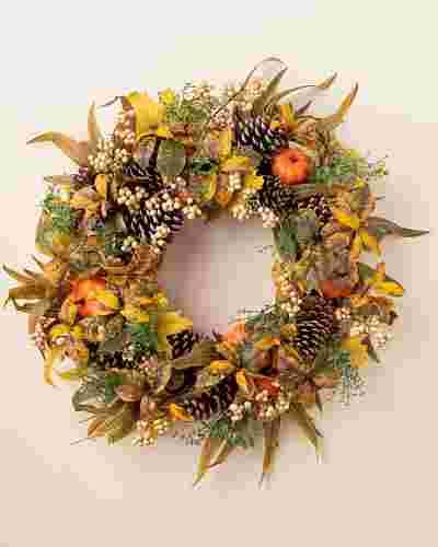 Autumn Abundance Artificial Wreath by Balsam Hill