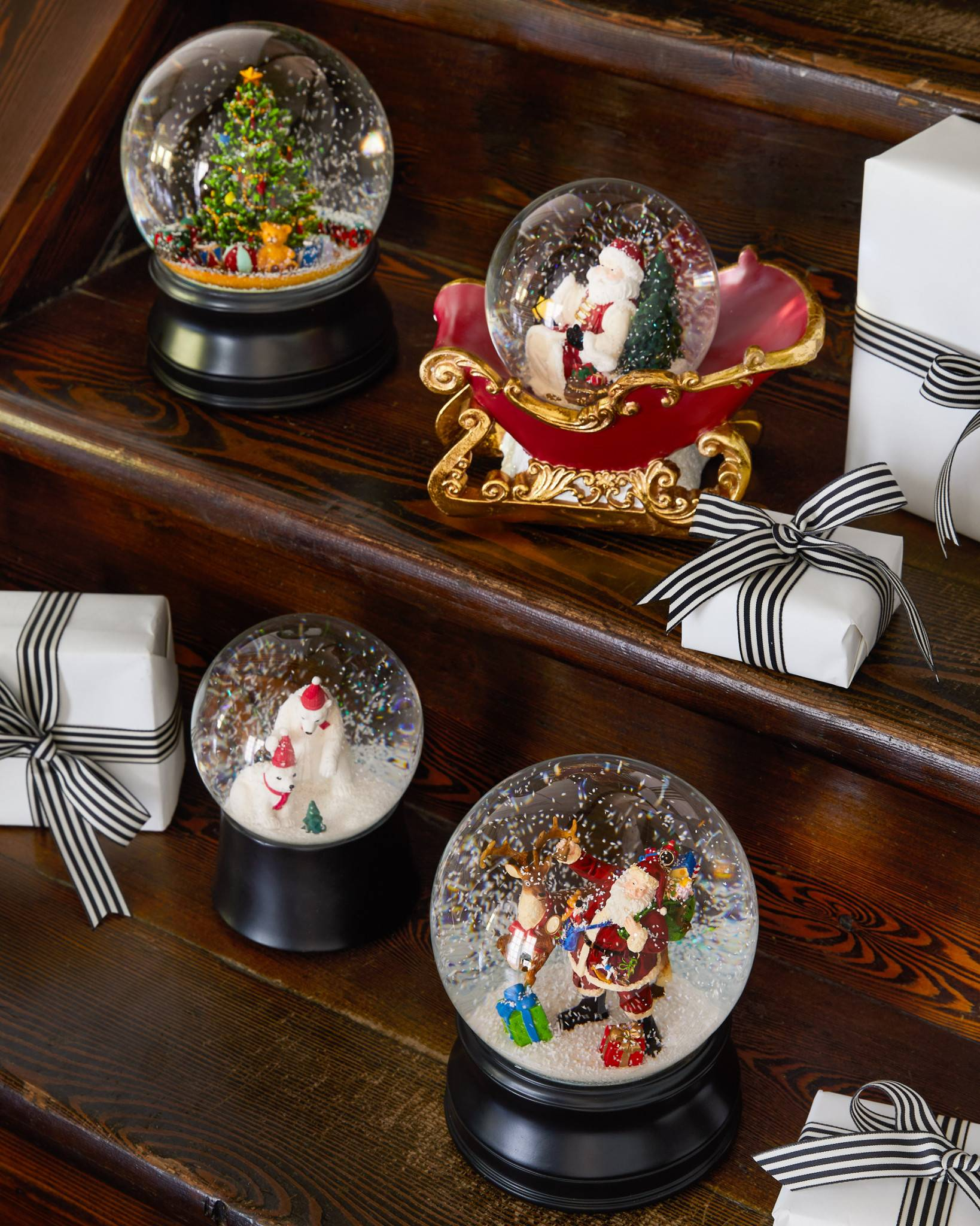 christmas moments musical snow globe by balsam hill - Christmas Musical Snow Globes