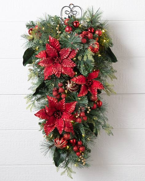 Decorative Christmas Swags   Balsam Hill