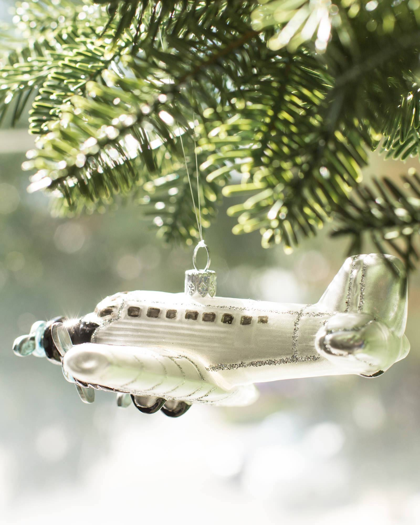 Christmas Ornaments Online Shopping Europe: European Vintage Travel Glass Ornaments
