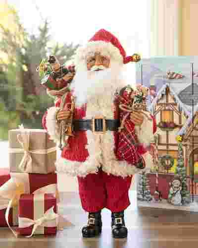 Karen Didion Vintage Toy Santa by Balsam Hill SSC 10