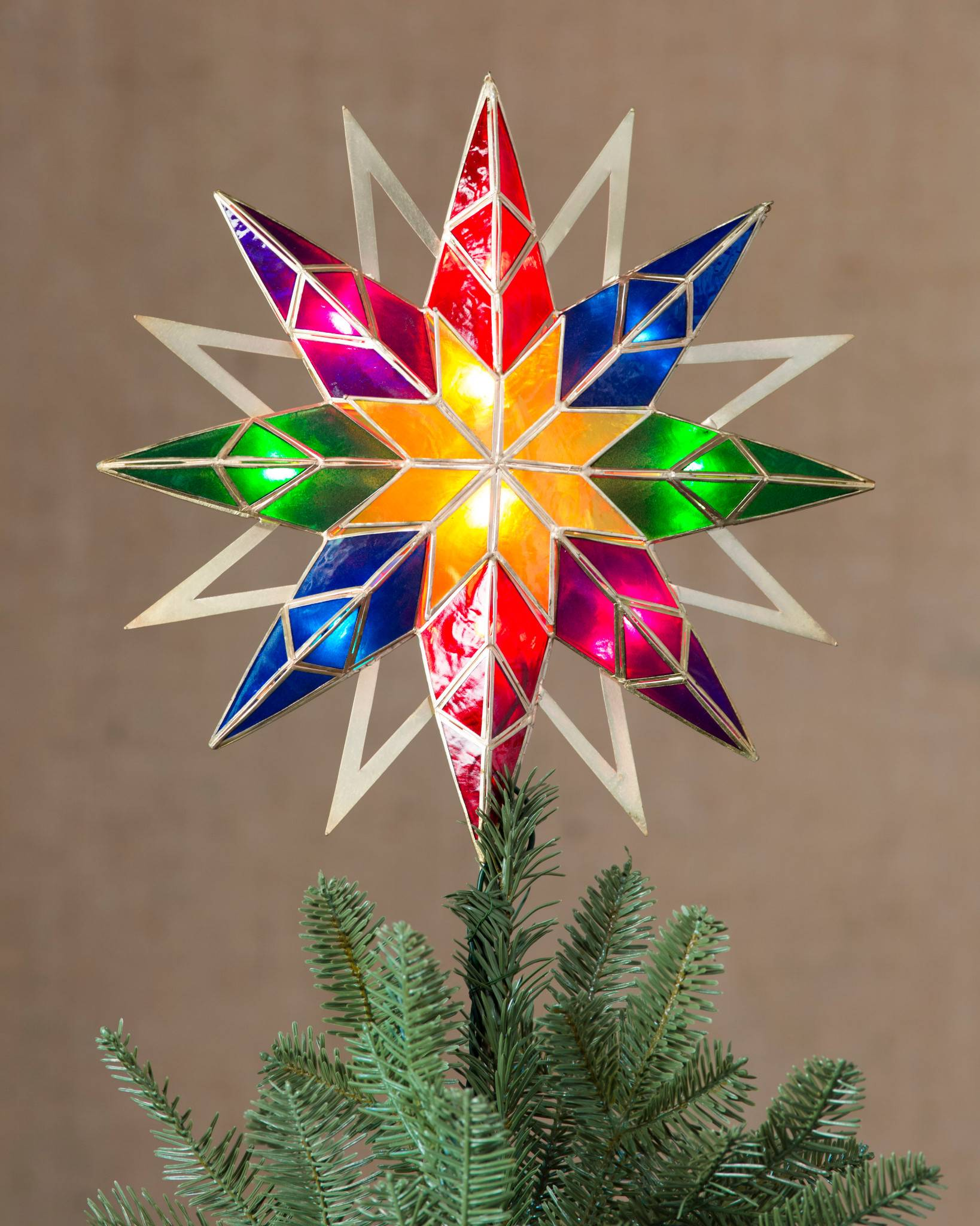 DOUBLE-SIDED STARBURST TREE TOPPER