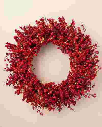 Festive Red Berry Wreath by Balsam Hill SSC 10