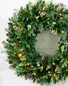 White Berry Cypress Wreath by Balsam Hill