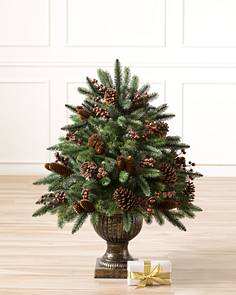 california redwood potted foliage main - Potted Artificial Christmas Trees