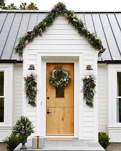 outdoor homestead pine foliage by balsam hill - Outdoor Christmas Wreaths
