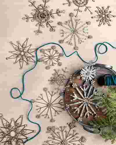 Antiqued Snowflake Ornament Set, 12 Pieces by Balsam Hill