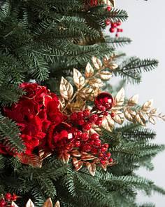 red velvet hydrangea bouquets set of 12 - Christmas Tree Picks