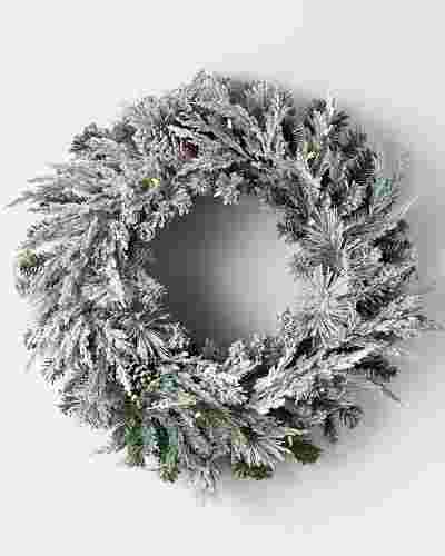 Outdoor Frosted Evergreen Alt